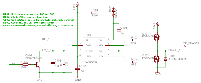 Motor driver board - one of three channels